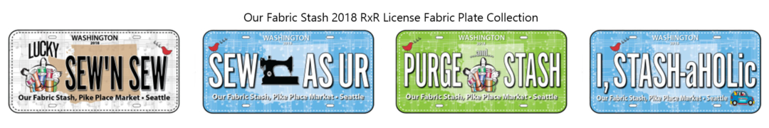 Our Fabric Stash 2018 License Fabric Plate Collection